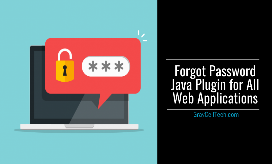 Forgot Password Java Plugin for All Web Applications