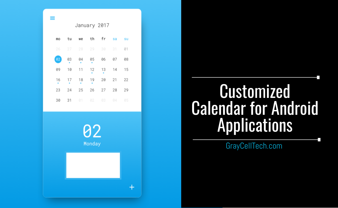 Customized Calendar for Android Applications