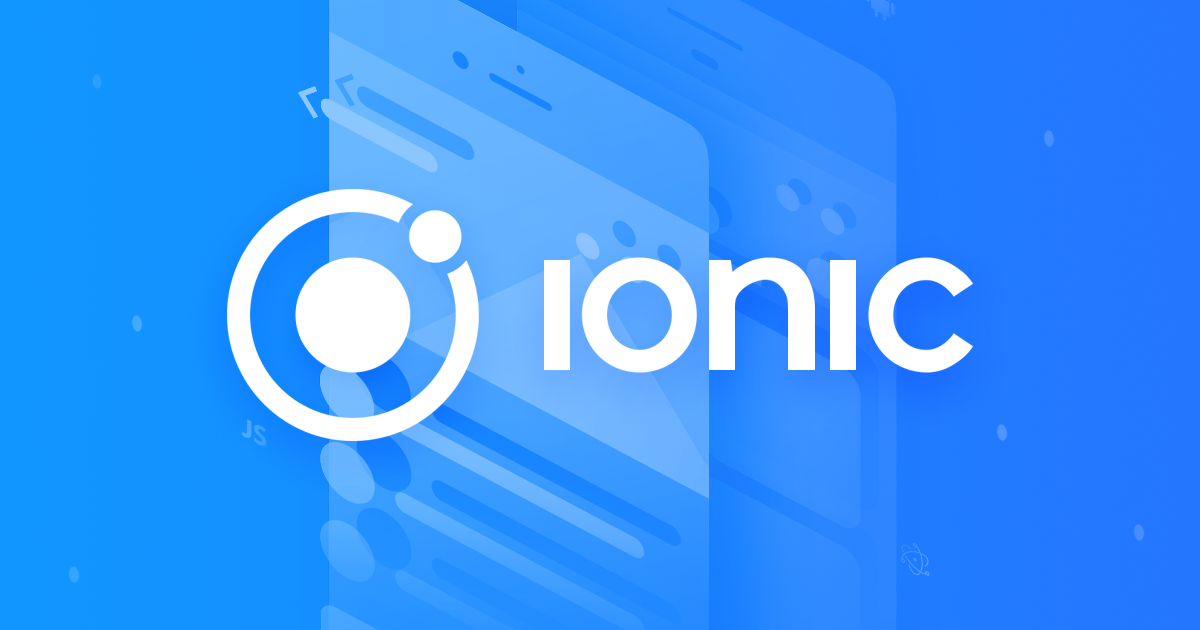 Ionic framework for mobile app development